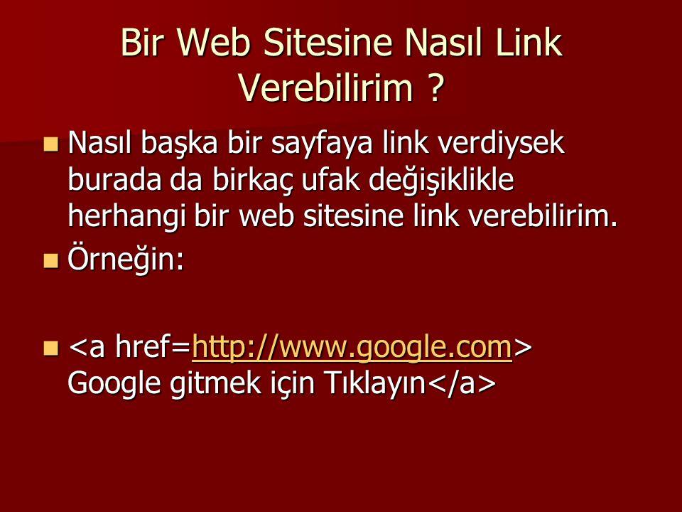 Bir Web Sitesine Nasıl Link Verebilirim