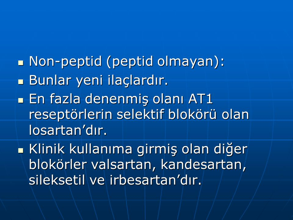 Non-peptid (peptid olmayan):