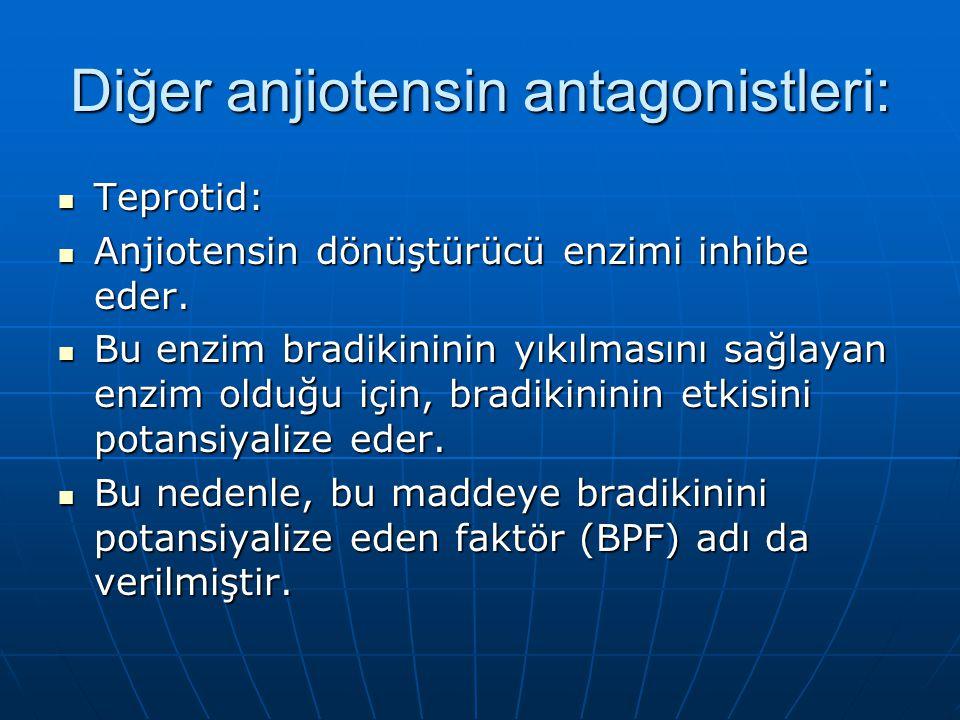 Diğer anjiotensin antagonistleri: