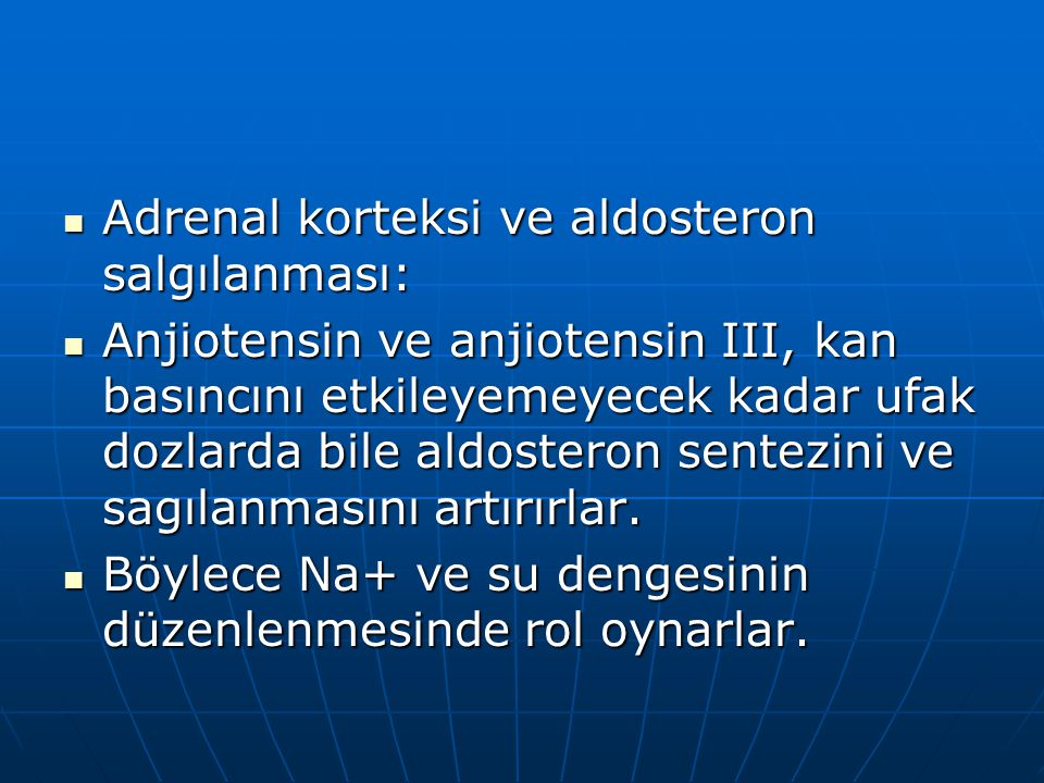 Adrenal korteksi ve aldosteron salgılanması: