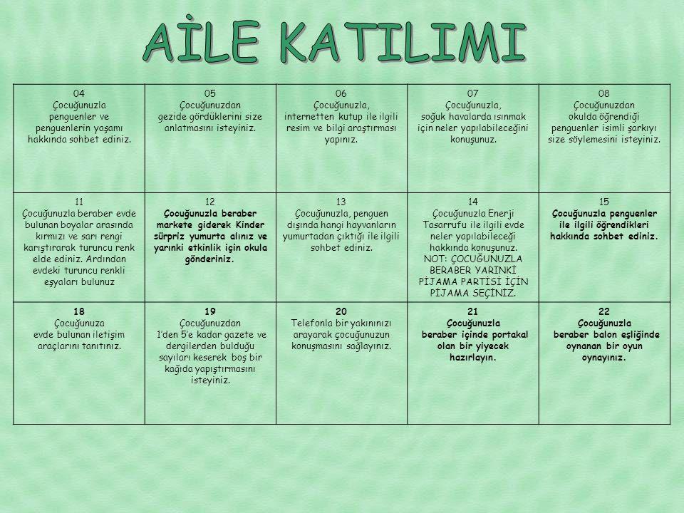 AİLE KATILIMI 04 Çocuğunuzla