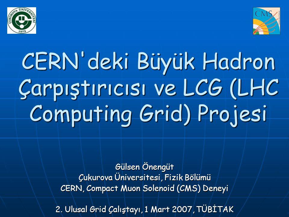 CERN deki Büyük Hadron Çarpıştırıcısı ve LCG (LHC Computing Grid) Projesi