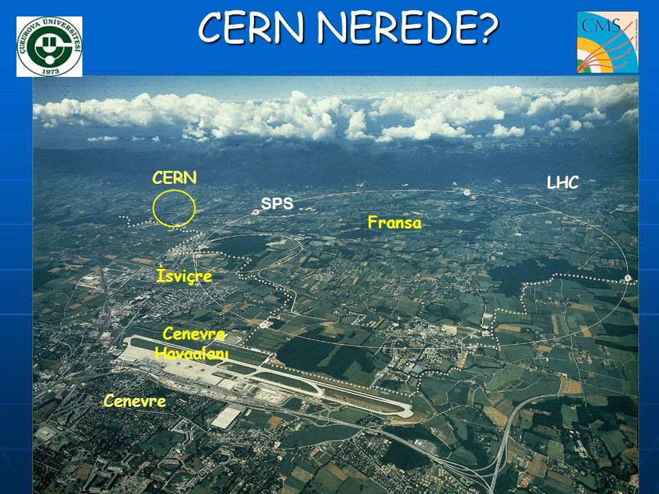 CERN NEREDE CERN LHC SPS Fransa İsviçre Cenevre Havaalanı Cenevre