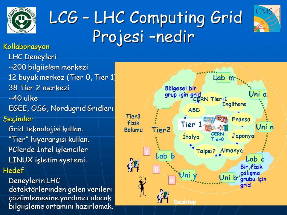 LCG – LHC Computing Grid Projesi –nedir