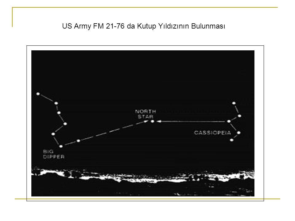 US Army FM 21-76 da Kutup Yıldızının Bulunması
