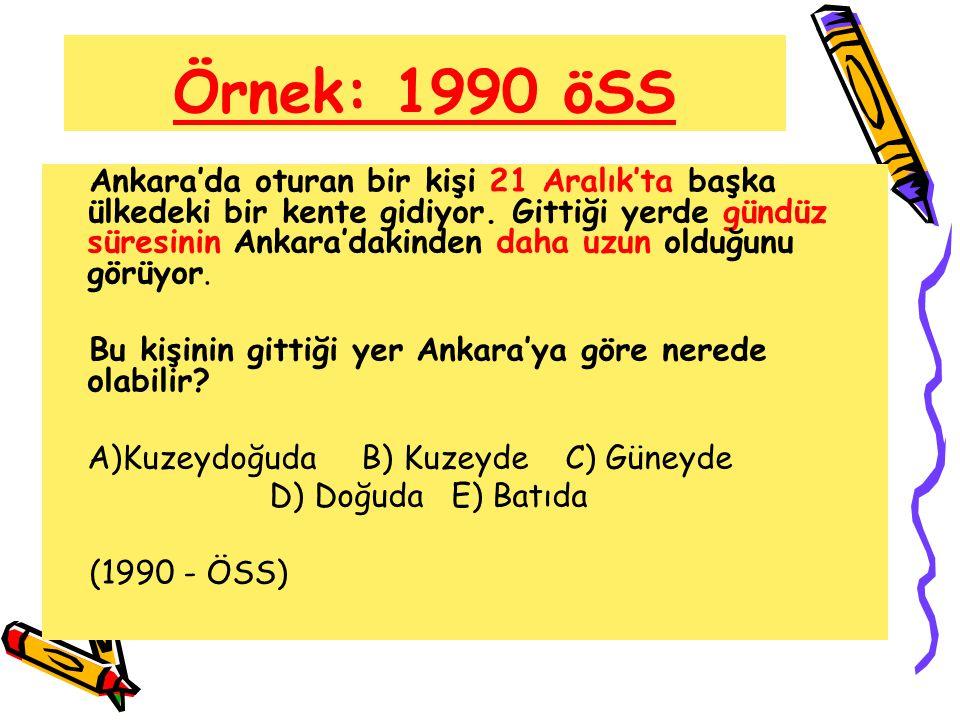 Örnek: 1990 öSS