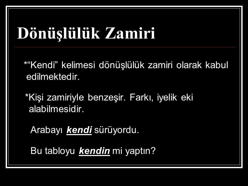 Dönüşlülük Zamiri edilmektedir.