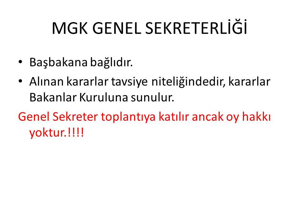 MGK GENEL SEKRETERLİĞİ