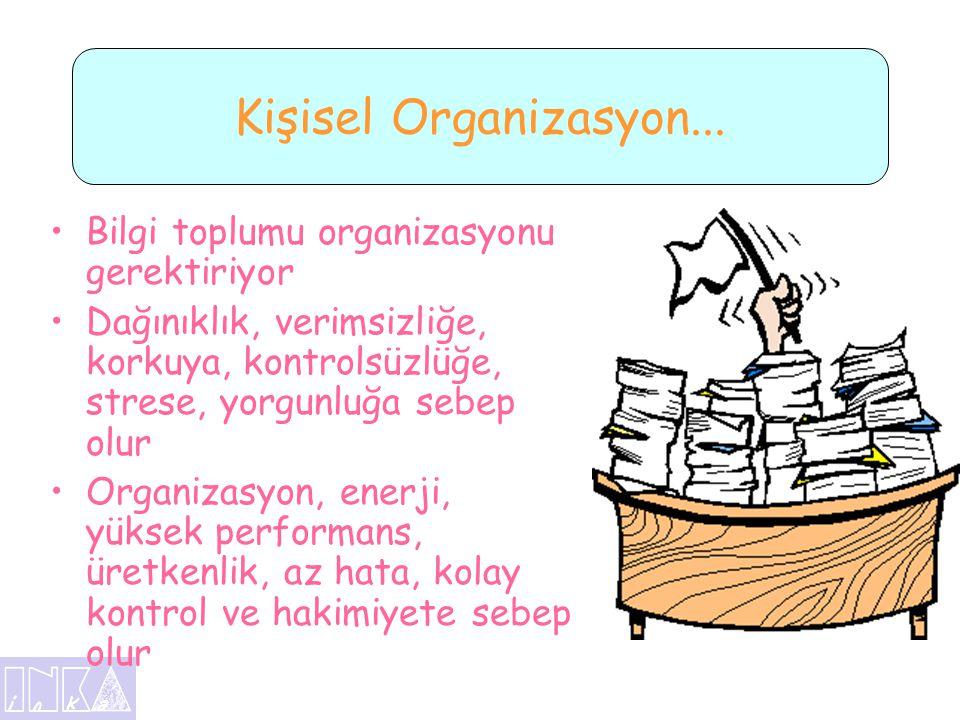 Kişisel Organizasyon... Bilgi toplumu organizasyonu gerektiriyor