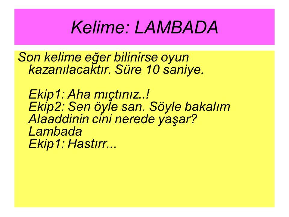 Kelime: LAMBADA