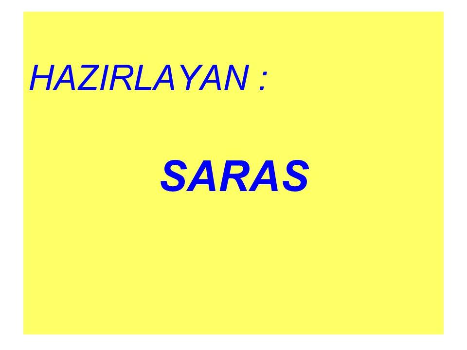 HAZIRLAYAN : SARAS
