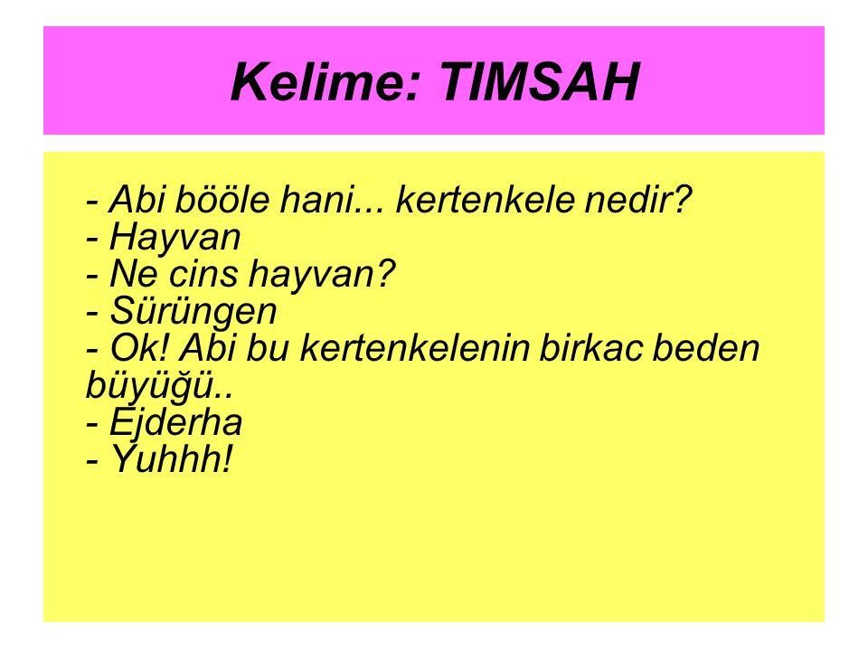 Kelime: TIMSAH
