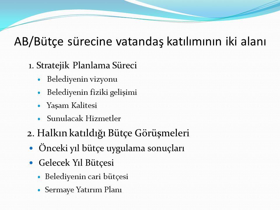 AB/Bütçe sürecine vatandaş katılımının iki alanı
