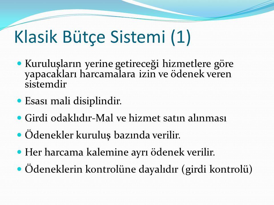 Klasik Bütçe Sistemi (1)