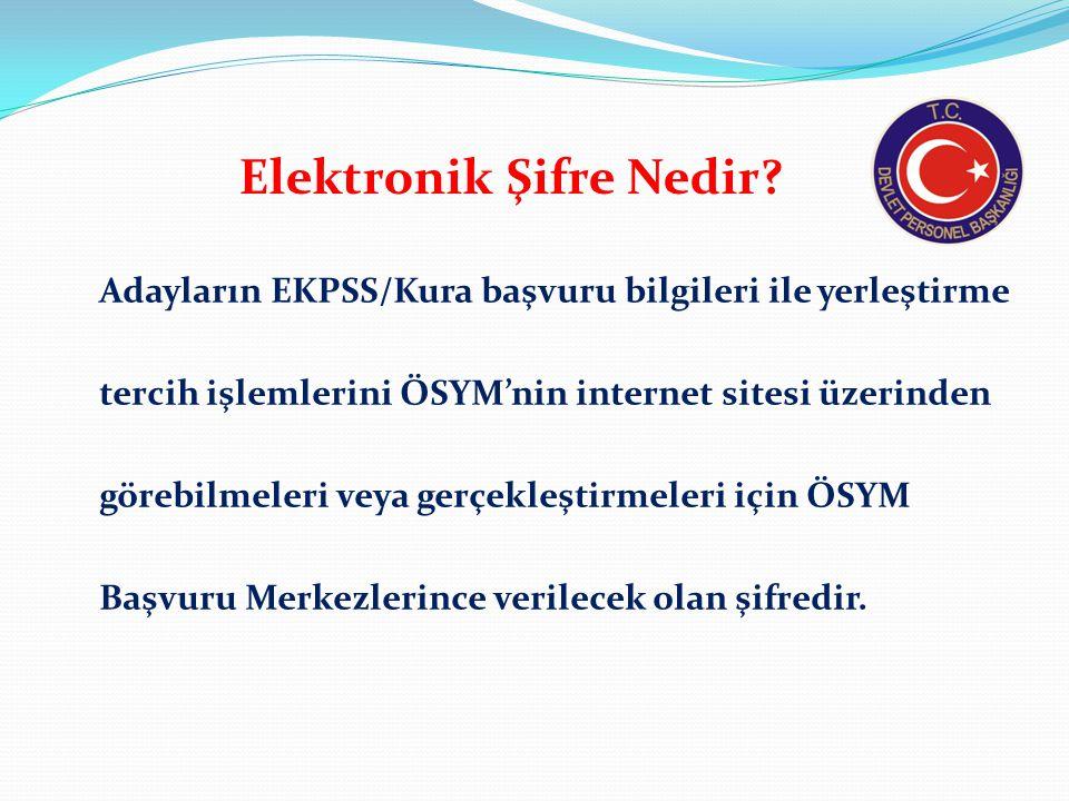 Elektronik Şifre Nedir