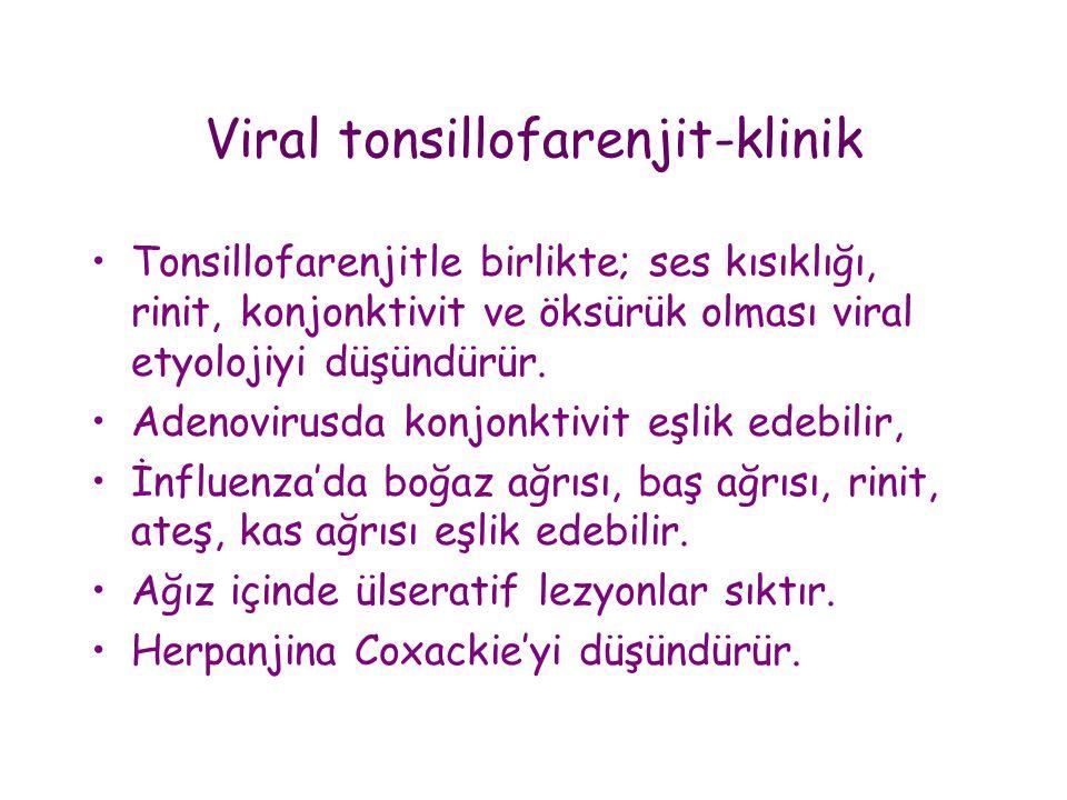 Viral tonsillofarenjit-klinik
