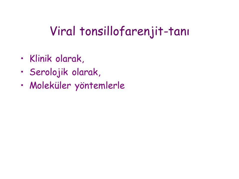 Viral tonsillofarenjit-tanı