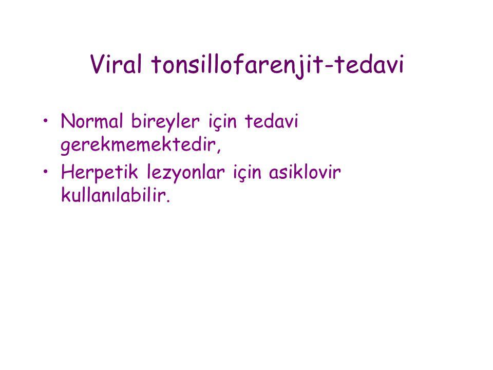 Viral tonsillofarenjit-tedavi