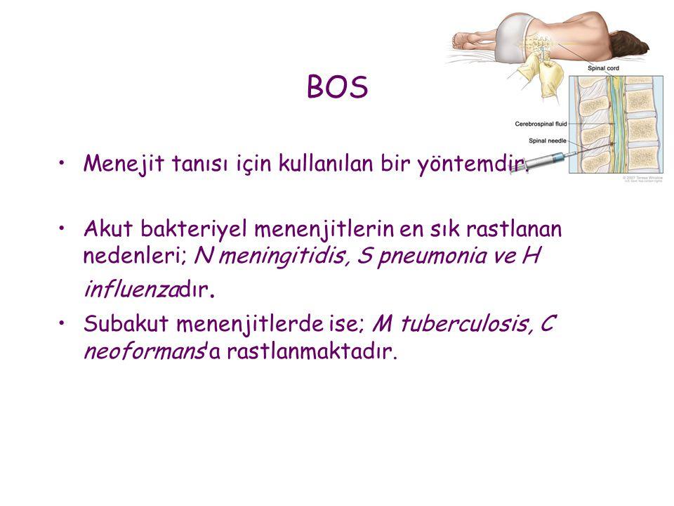 BOS Menejit tanısı için kullanılan bir yöntemdir.