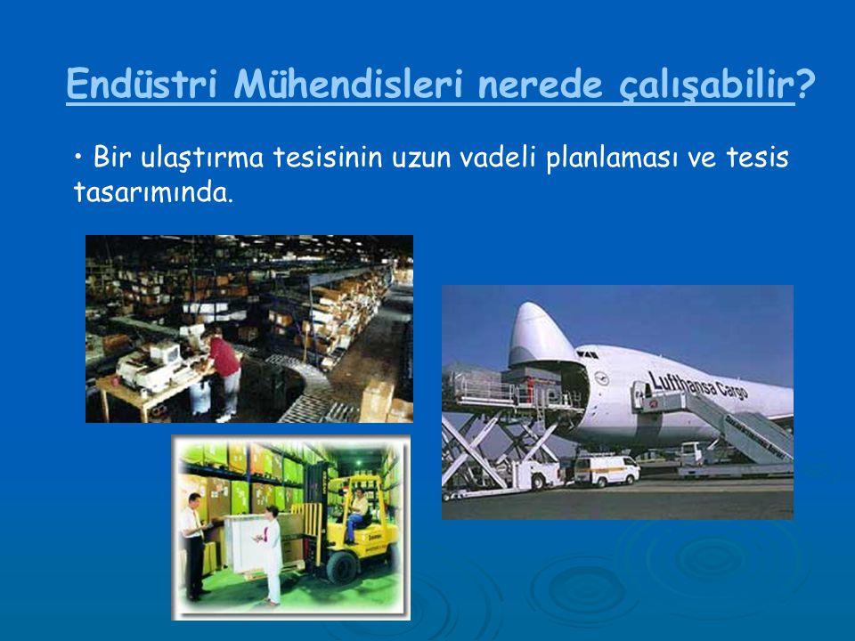 Endüstri Mühendisleri nerede çalışabilir
