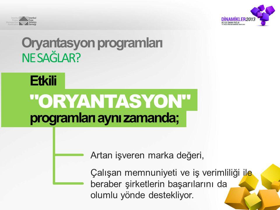 ORYANTASYON Oryantasyon programları NE SAĞLAR Etkili