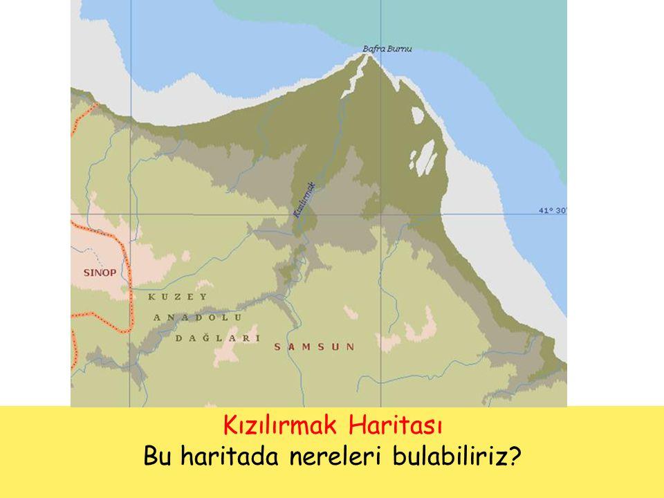 Bu haritada nereleri bulabiliriz