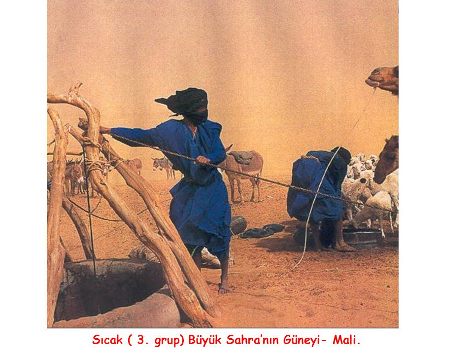 Sıcak ( 3. grup) Büyük Sahra'nın Güneyi- Mali.
