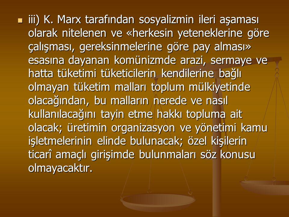 iii) K.