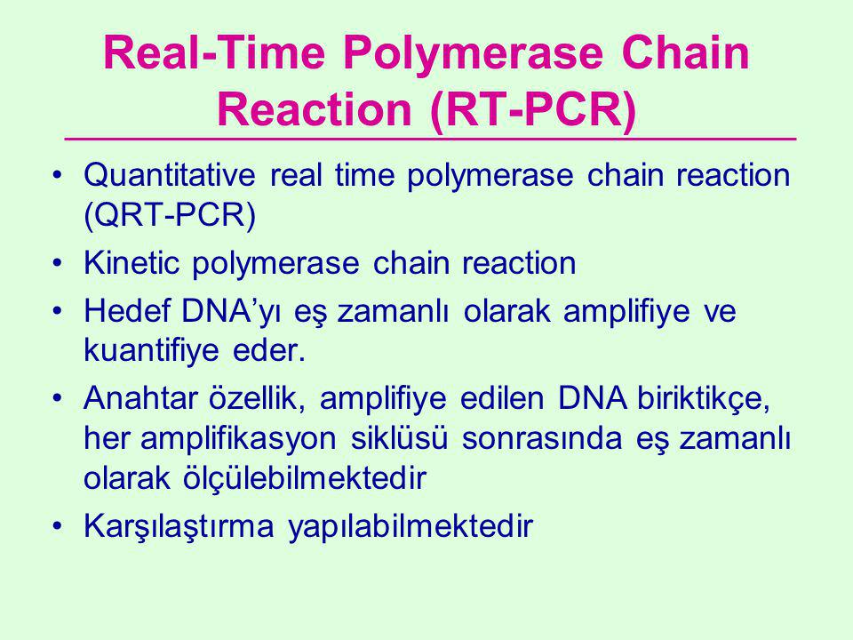 Real-Time Polymerase Chain Reaction (RT-PCR)
