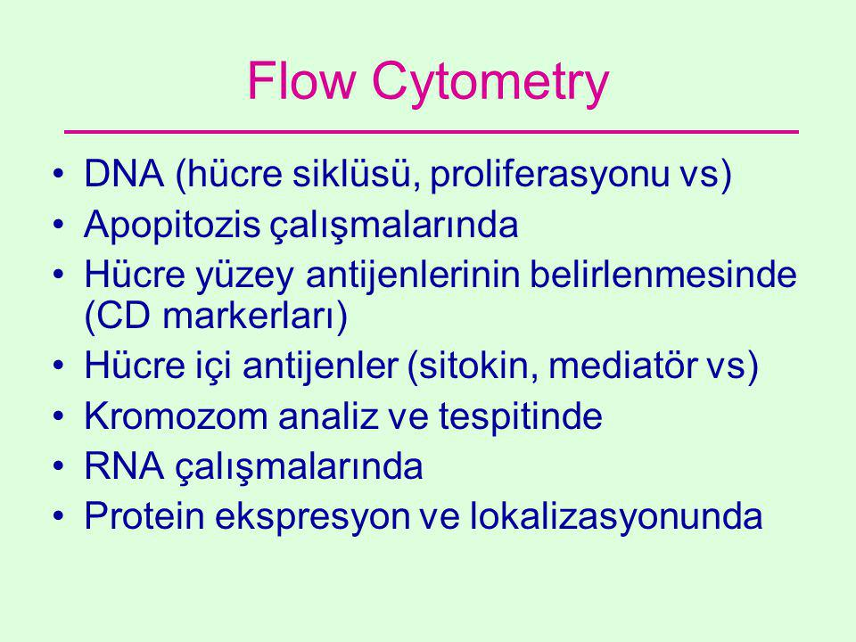Flow Cytometry DNA (hücre siklüsü, proliferasyonu vs)