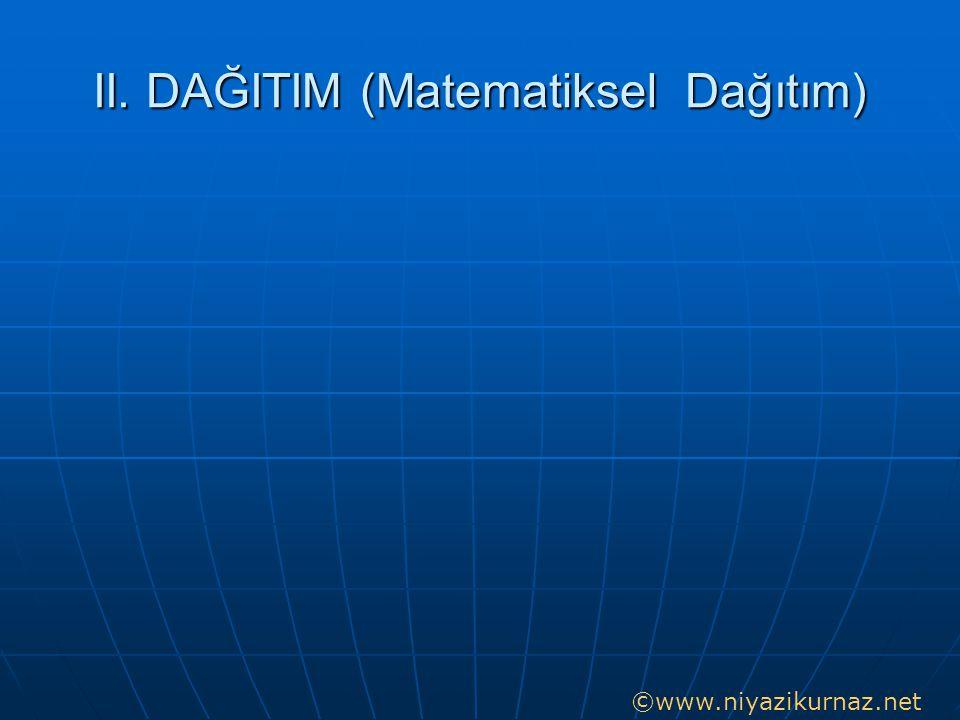 II. DAĞITIM (Matematiksel Dağıtım)