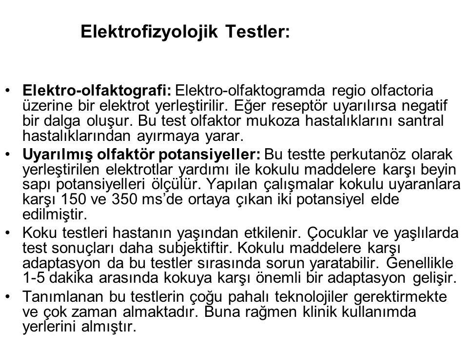 Elektrofizyolojik Testler: