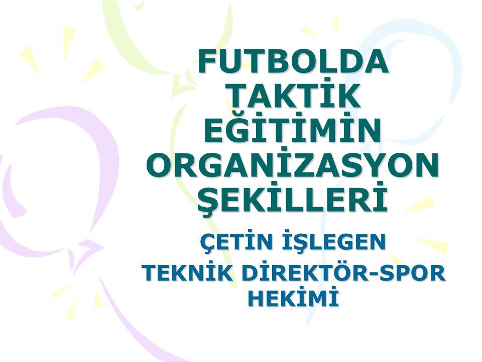 FUTBOLDA TAKTİK EĞİTİMİN ORGANİZASYON ŞEKİLLERİ