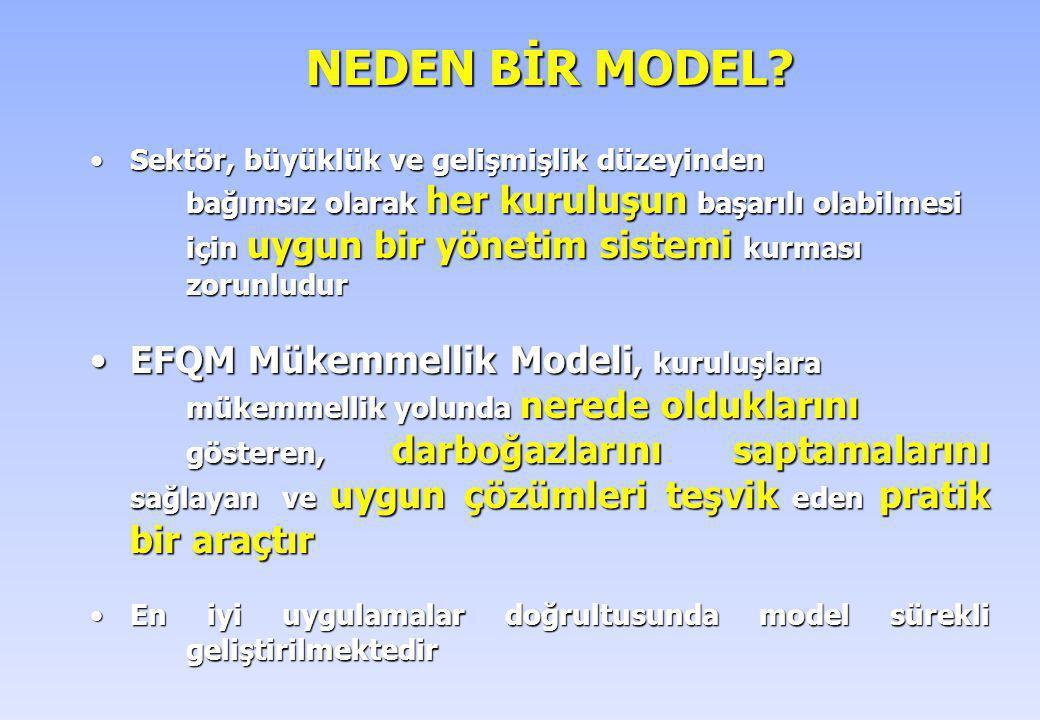 NEDEN BİR MODEL