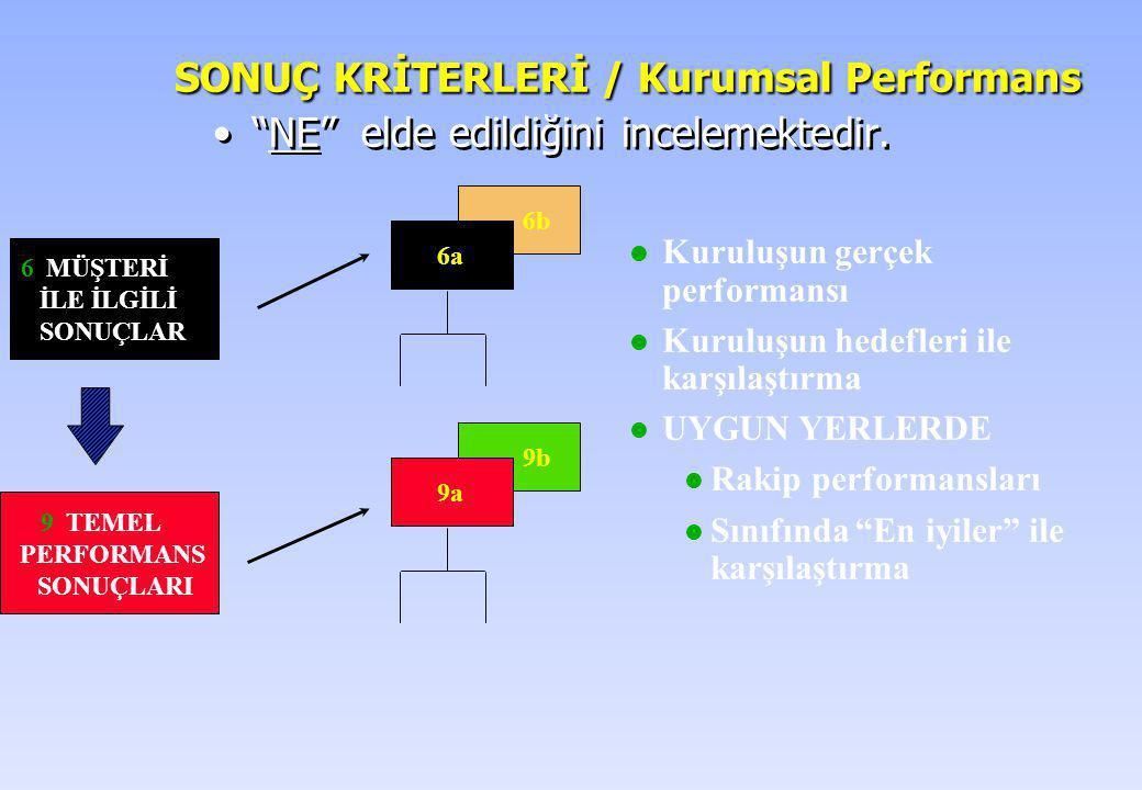 SONUÇ KRİTERLERİ / Kurumsal Performans