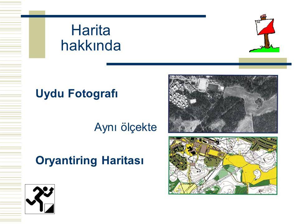 Harita hakkında Uydu Fotografı Aynı ölçekte Oryantiring Haritası