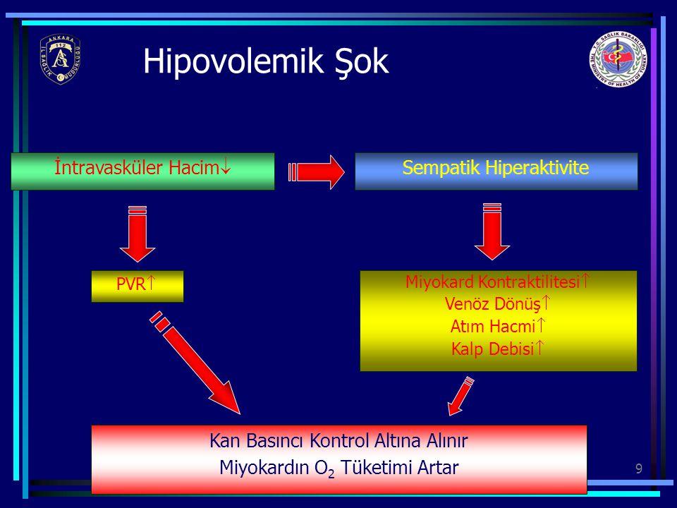 Hipovolemik Şok İntravasküler Hacim Sempatik Hiperaktivite