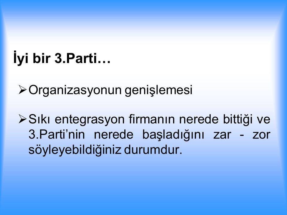 İyi bir 3.Parti… Organizasyonun genişlemesi