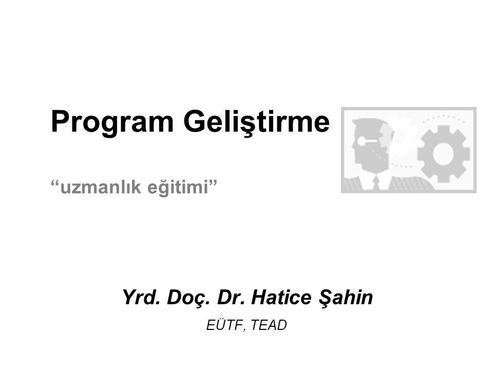 Program Geliştirme uzmanlık eğitimi