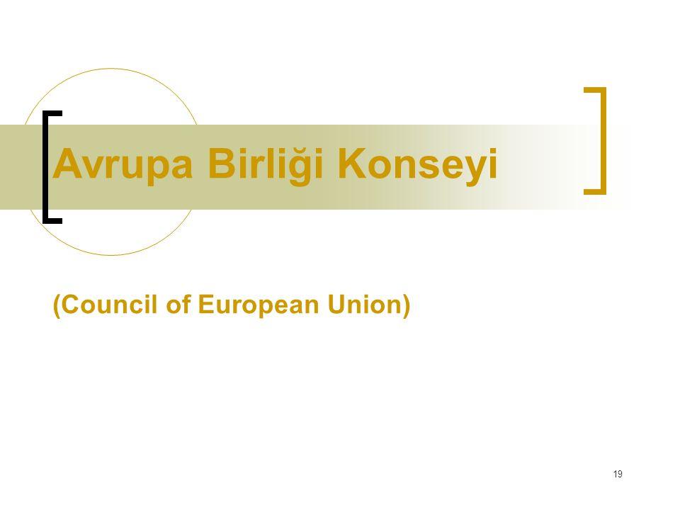 Avrupa Birliği Konseyi (Council of European Union)