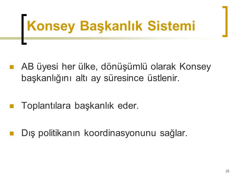 Konsey Başkanlık Sistemi