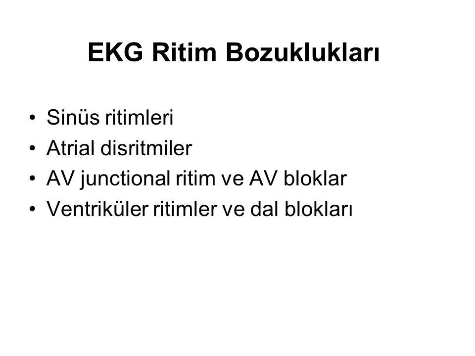 EKG Ritim Bozuklukları