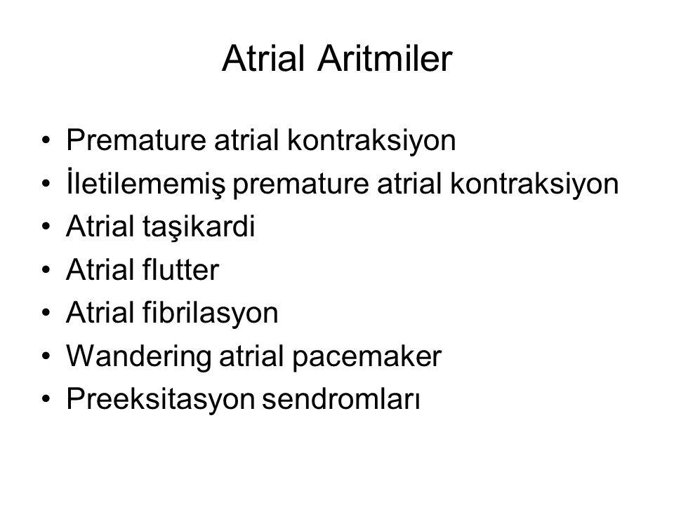 Atrial Aritmiler Premature atrial kontraksiyon