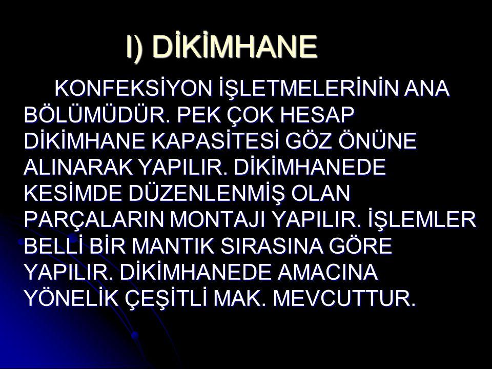 I) DİKİMHANE