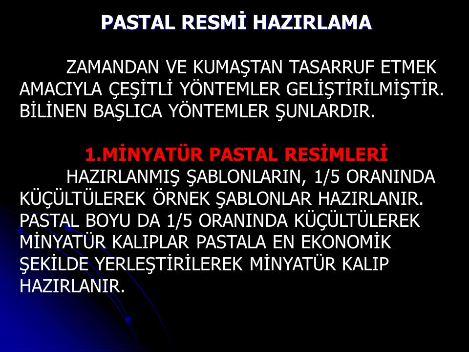 PASTAL RESMİ HAZIRLAMA MİNYATÜR PASTAL RESİMLERİ
