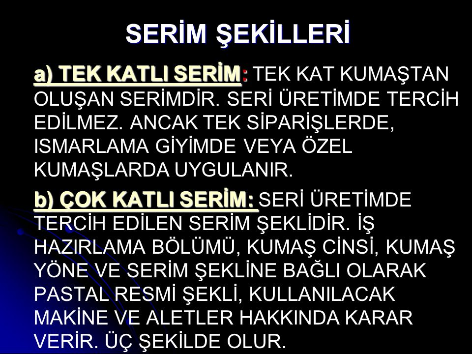SERİM ŞEKİLLERİ