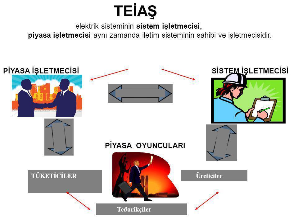 TEİAŞ elektrik sisteminin sistem işletmecisi,