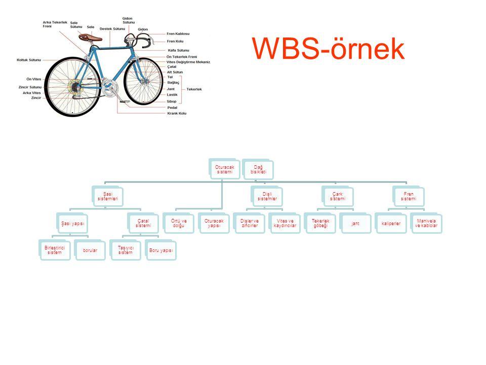 WBS-örnek Dağ bisikleti Şasi sistemleri Şasi yapısı
