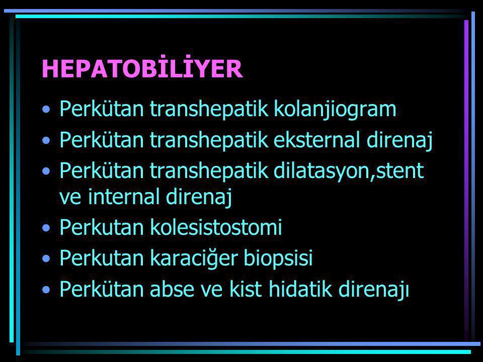 HEPATOBİLİYER Perkütan transhepatik kolanjiogram