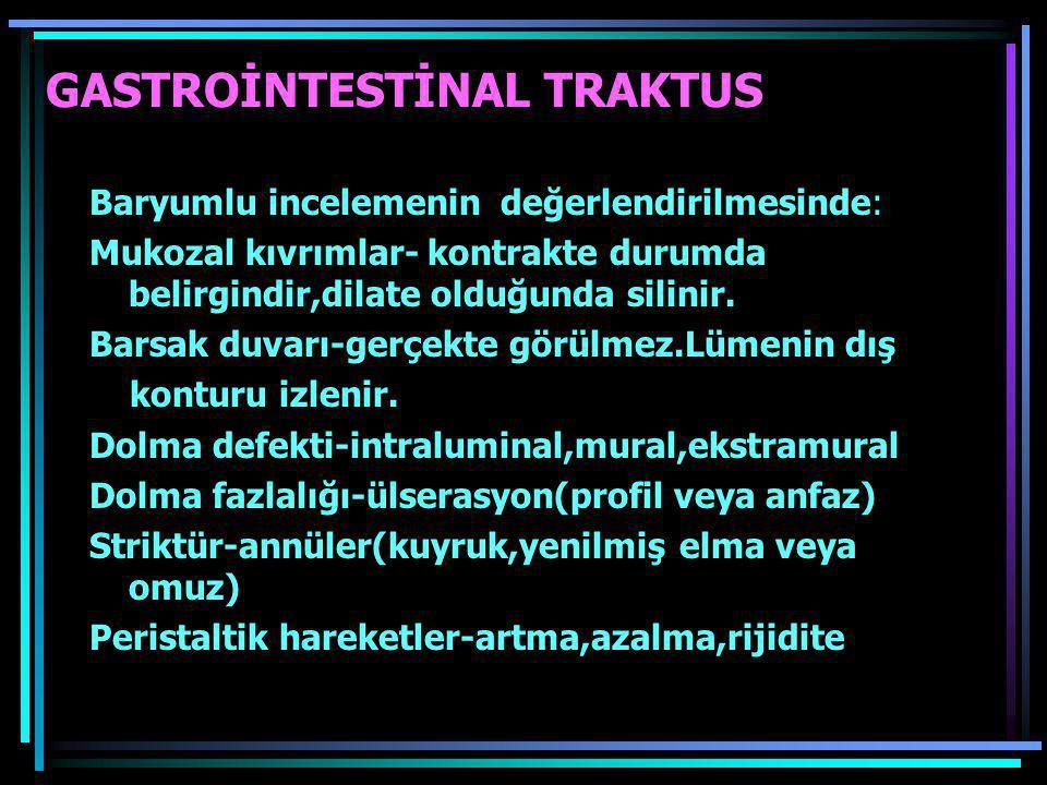 GASTROİNTESTİNAL TRAKTUS